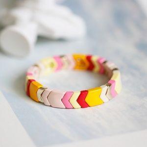 Roxanne Assoulin Enamel Chevron Stretch Bracelets
